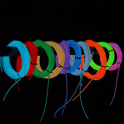 New Hot Pink 5M Flexible Neon Light EL Wire Tube Party Car Decoration Controller