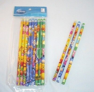 12 Disney Winnie the Pooh Wooden Pencil Kid Party Favor School Stationery Supply