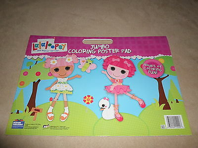 "Lalaloopsy Jumbo Coloring Poster Pad With Handle~16"" X 11"", Made In The USA~NEW!"