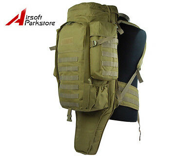 Tactical SWAT Police Military Molle Rifle Gun Carrying Case Bag Backpack Tan