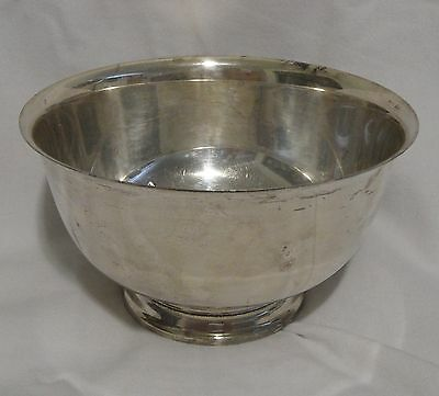 """Webster Wilcox,Int'l. Silver Co. #33617 Footed Bowl w/strainer-7"""" - Silverplate"""