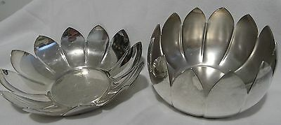 """Reed & Barton Silverplate Open Flower Pedal #3301- 6-1/2"""" Dia. + Closed Flower"""