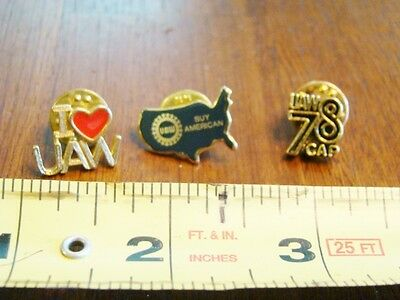 Vintage LOT OF 3 UAW United Auto Workers 1978 PinbackS Hat Pin