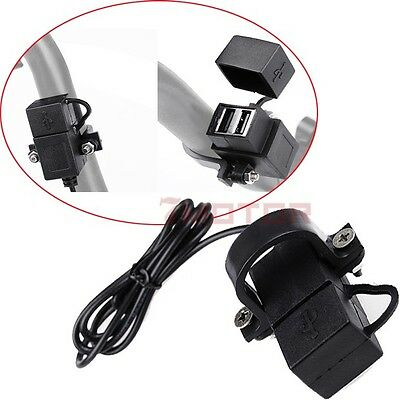 2USB Motorcycle Mobile Waterproof Power Supply Port Socket Charger Fit Yamaha 7M