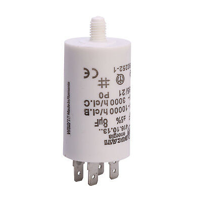 Universal 8UF µF Tumble Dryer Appliance Start Motor Spade Connector Capacitor