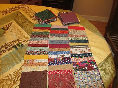 """Lot of 200 Lovely Assorted 100 % Cotton Print  5 X 5""""  Fabric Squares -Quilting"""