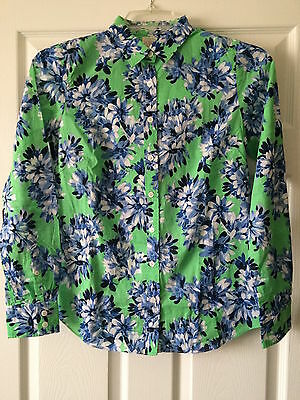 NWT J. Crew Factory Spring 2015 Womens Roz Floral Classic Perfect Shirt XL 16 18