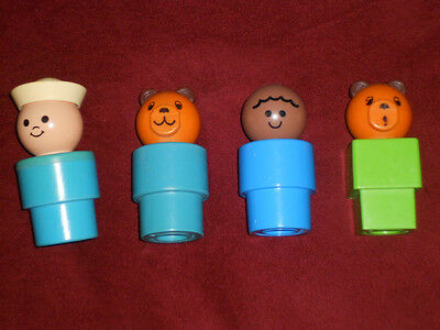 Vintage 1989 1984 1974 Fisher Price Toy Little People 3 Large Body lot of 4