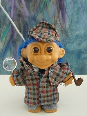HTF Sherlock Holmes with Pipe Magnifier Russ Troll NEW