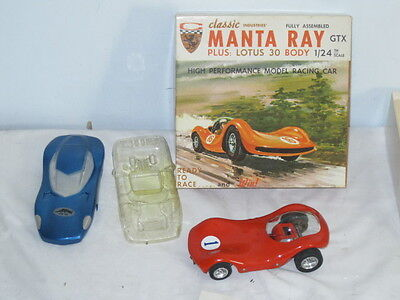 CLASSIC 1/24 MANTA RAY GTX IN ORIGINAL BOX WITH 2 EXTRA BODIES