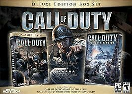 Call of Duty Deluxe BOX SET FOR COMPUTER PC  CONTAINS MULTIPLE GAMES PLUS BONUS