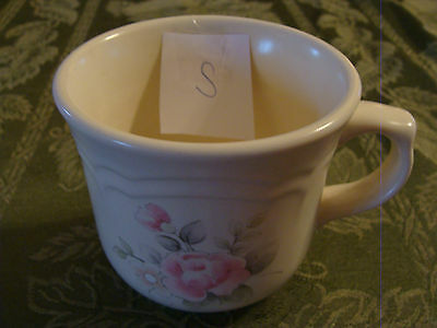 (2) LOT OF TWO CUPS - Pfaltzgraff Tea Rose Stoneware Cups (S,T)