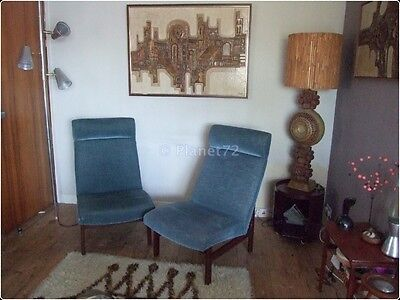 Retro Vintage 50s 60s Pair of Parker Knoll Lounge Chairs