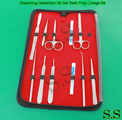 Dissecting Dissection Kit Set Tools Frog College Biology Student Lab S.S-594