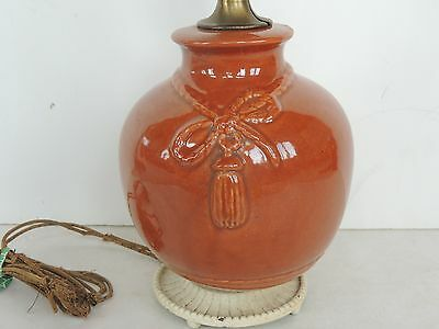 Vintage Hull  Weller art pottery bow Tassel rope lamp arts crafts STAIT