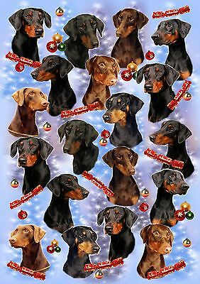 Dobermann Dog Christmas Wrapping Paper By Starprint - Auto combined postage