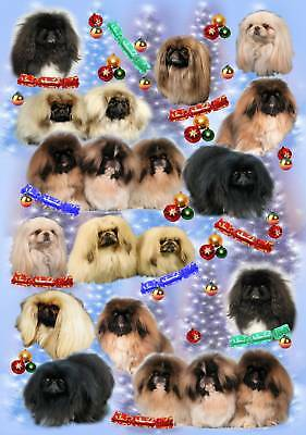 Pekingese Dog Christmas Wrapping Paper by Starprint - Auto combined postage