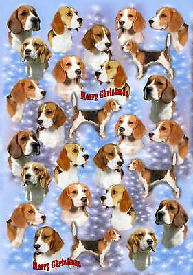 Beagle Dog Christmas Wrapping Paper By Starprint