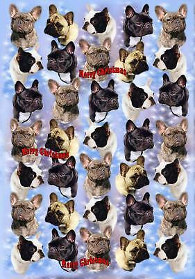 French Bulldog Christmas Wrapping Paper By Starprint