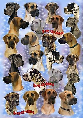 Great Dane Dog Christmas Wrapping Paper By Starprint