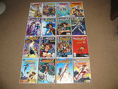 DC - IMPULSE #1 - 49 (Lot of 23 Comics) VF+