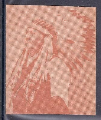 VERY EARLY NATIVE AMERICAN STRIP CARD, INDIAN CHIEF TWO MOONS, N. CHEYENNES