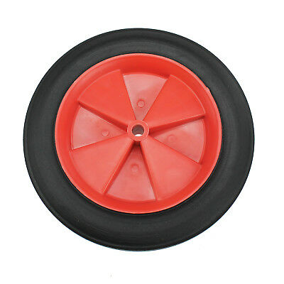 "10"" 25cm Red Spoked Puncture Proof Wheelbarrow Wheel Inner Tube & Tyre Solid"