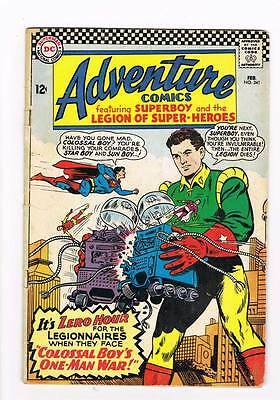 Adventure Comics # 341 Colossal Boy's One-Man War ! grade 3.5 scarce hot book !