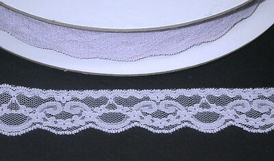 """FREE US SHIP - 1 1/4"""" Raschel Lace Pale Lilac 50 Yards"""