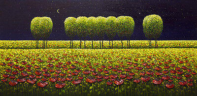 """Myung """"Mario"""" Jung - My Path of Many Colors  - Original, Landscape Painting"""