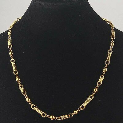 Free Shipping Womens 14k Gold Filled Yellow Bead Necklace Chain Pendant BB1974