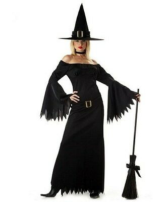womans costumes ELEGANT WITCH Costume new sizes Small- MED-LARGE--XLARGE