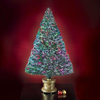 The 4' Fiber Optic Twinkling Artificial Christmas Tree Multi-Colored Lights