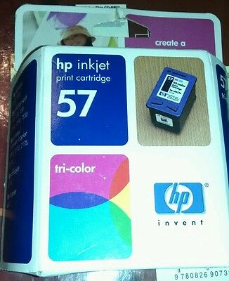 HP 57 Tri-Color Printer Ink Cartridge C6657AN Expired but still Factory Sealed