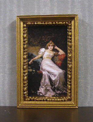 """HALF  SCALE ~  1/2""""  scale ~  FRAMED  PICTURE ~ Dollhouse ~ 1/24  or 1:12 scale"""