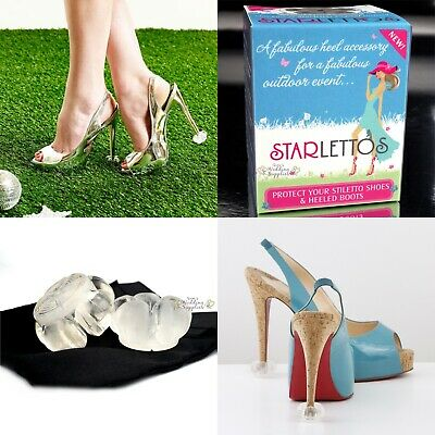 New Starlettos Crystal Clear Heel Protectors Stiletto Tips Genuine Starletto