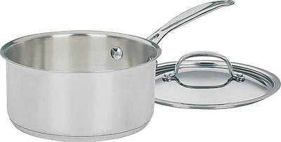 New Cuisinart Chef's Classic 719-18 Stainless Steel 2 Qt Sauce Pan  7014178