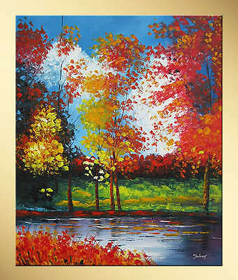 Yuhong Summer Forest hand painted landscape oil painting bestbid_mall SE890