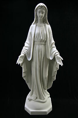 """31"""" Our Lady of Grace Virgin Mary Catholic White Statue Figure Made in Italy"""