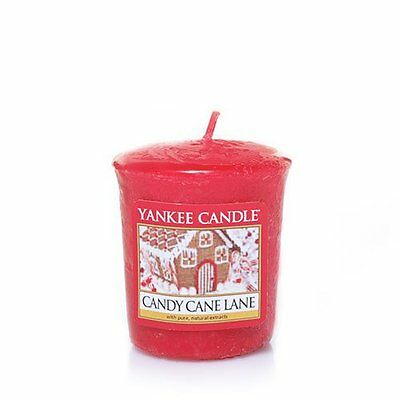 YANKEE CANDLE Candy Cane Lane Votive Candle (Lot of 2 )