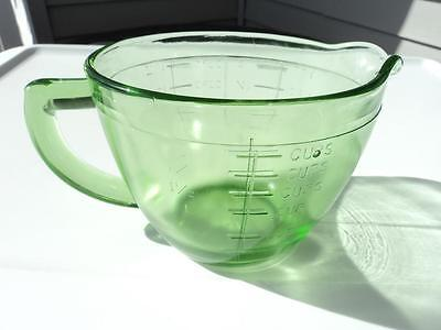 JEANNETTE TRANSPARENT GREEN MEASURING PITCHER 2 CUP