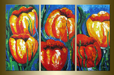 Yuhong Blooming Poppy hand painted Floral oil painting bestbid_mall A635