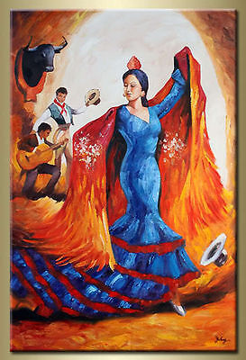 Yuhong Dancing Lady hand painted Abstract oil painting bestbid_mall E328