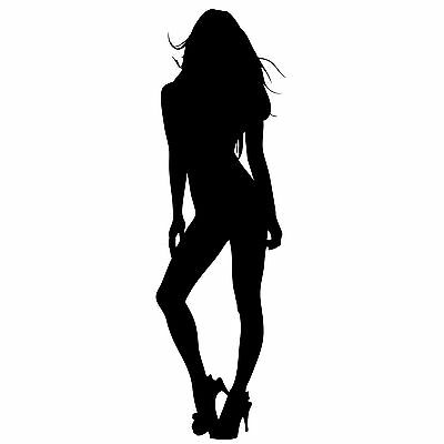 SEXY SILHOUETTE Pin Up Girl ~ Window WALL DECAL* Vinyl Car STICKER  ~ ANY COLOR