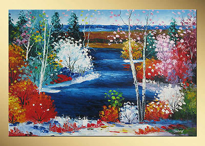 Yuhong Spring Splendor hand painted Landscape oil painting bestbid_mall SY2