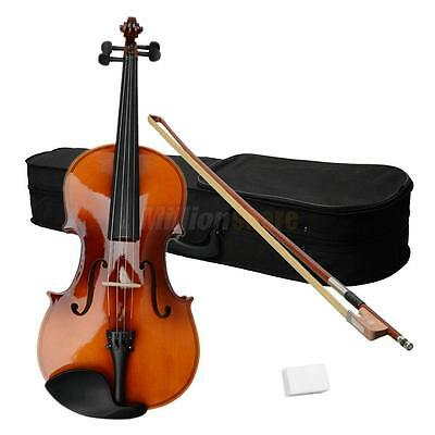 "Top Grade Professional 16"" Wood Adult Acoustic Viola with Case Rosin Bow Brown"