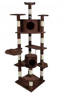 """2014 New Brown 80""""Cat Tree Condo Furniture Scratch Post Pet House 9080"""
