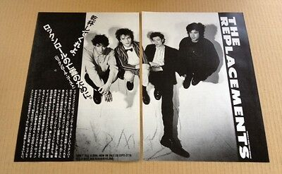 1989 The Replacements Don't Tell 2pg JAPAN album photo ad /mini poster advert 9r