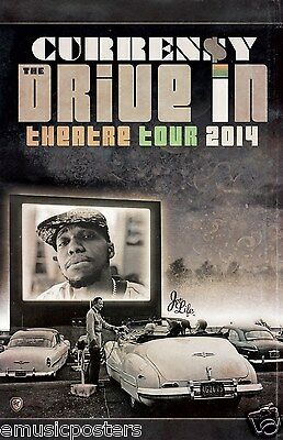 """CURREN$Y """"DRIVE IN THEATRE TOUR 2014"""" CONCERT  POSTER -New Orleans Hip Hop Music"""