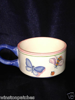 ZRIKE BUTTERFLIES CUP ONLY BEES LADY BUG IN CENTER OF CUP PINK MICHAL SPARKS 8 z